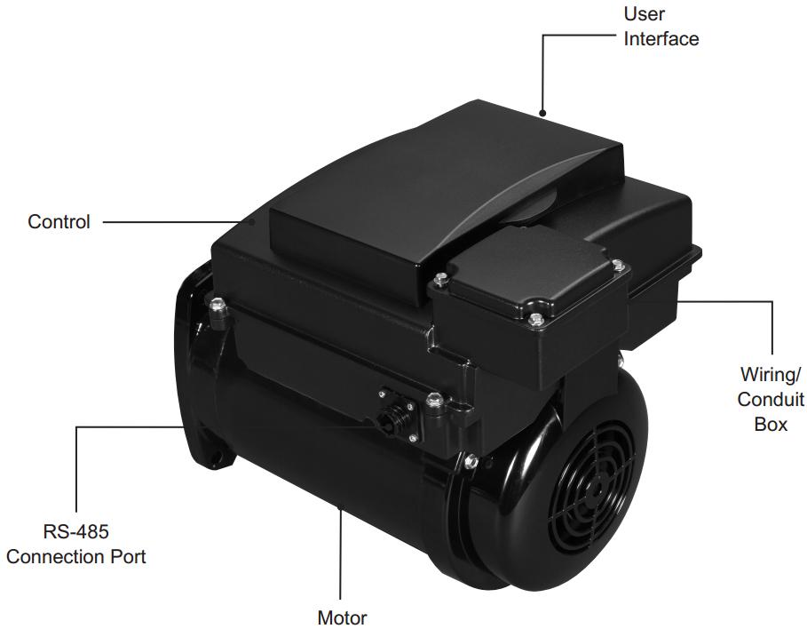 AVSS3 Variable Sd Pool Pump Motor 56Y on
