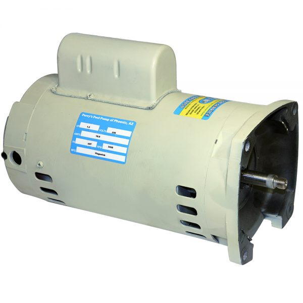 56y Pool Pump Motor 1 HP Square Flange Almond (Whisper Flo)