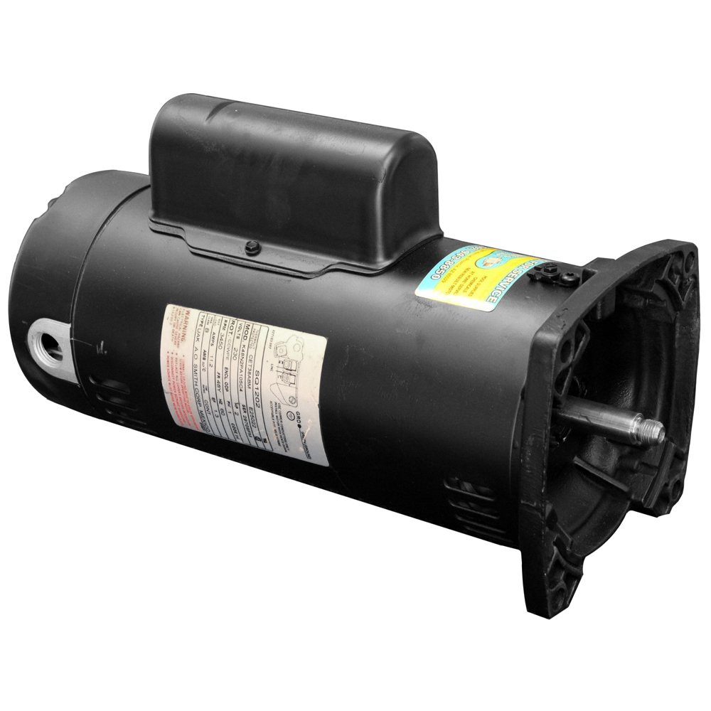 1 hp 48y 56y motor 3450 rpm 115 230 volt perry 39 s pool pump for Square flange pool pump motor