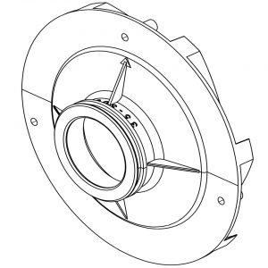 Pentair Challenger Pump 2-3 HP Diffuser 355545