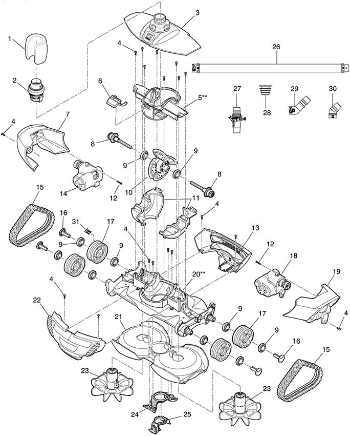 Tune Up Rebuild Kit Zodiac Mx8 Cyclonic Scrubbing Kit