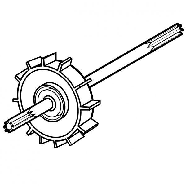Polaris EC86 Turbine Drive Shaft 180 280