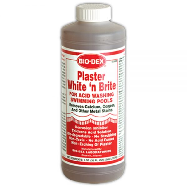 Bio-Dex Plaster White 'N Brite Acid Washing Pool/Spa Cleaner 1 QT PWB32