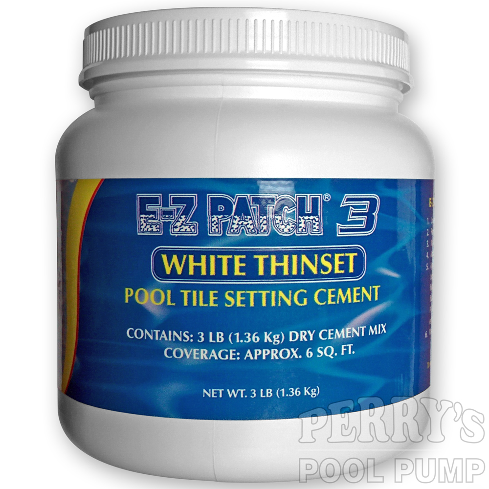 E-Z Patch 3 Pool Tile Cement White Thinset EZ