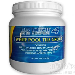 E-Z Patch 4 Pool Tile Grout Cement White EZ