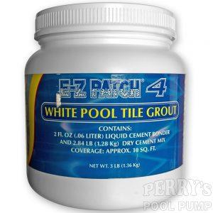 E-Z Patch 4 Pool Tile Grout Cement White EZ
