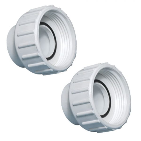 2x Waterway Tiny Might 1 in PVC Unions 400-1990