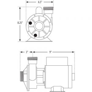 Waterway Iron Might 115V 3410030-1E dimensions